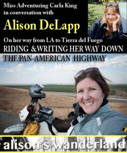Tonight on SidestandUp motorcycle radio: Alison DeLapp from the road in Honduras