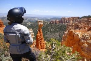 Carla King in her Schuberth C3W Enjoying the view in Bryce Canyon