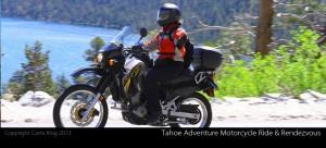 Carla King, KLR, Schuberth Women's C3 Helmet, Lake Tahoe Adventure Motorcycle Ride & Rendezvous