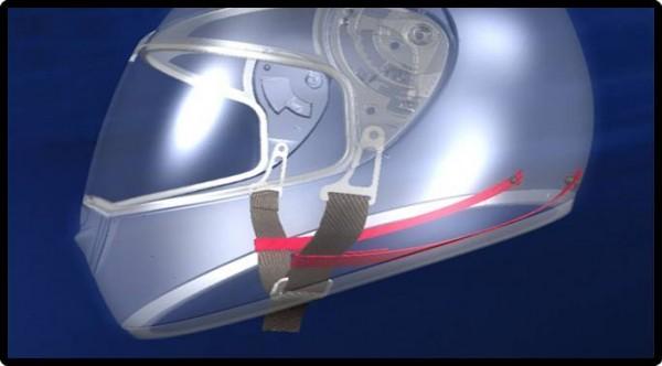 Schuberth C3 Motorcycle Helmet Anti-Roll-Off-System (AROS)