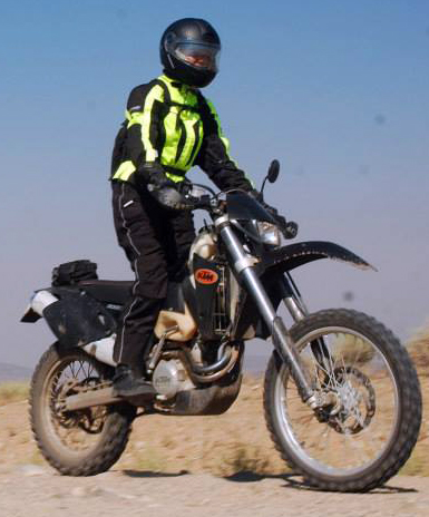 Carla King dual-sport motorcycle Olympia Moto Sports Airglide 4