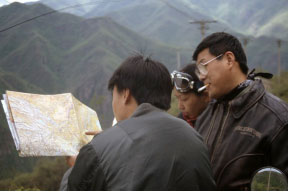 China Motorcycle Diaries Friends with Map