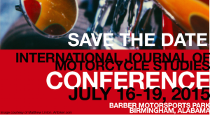 International Journal of Motorcycle Studies Conference Date Announced