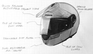 Schuberth E1 Adventure Helmet Sneak Preview Peek