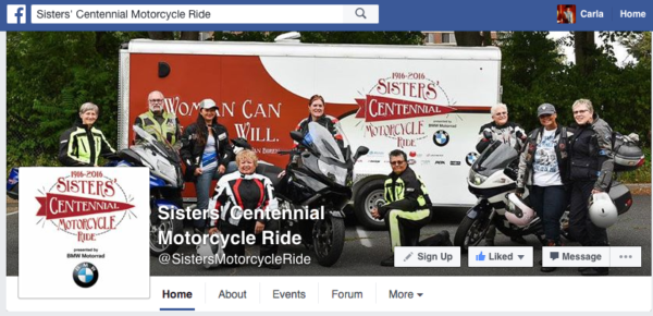 Sisters' Centennial Motorcycle Ride on Facebook