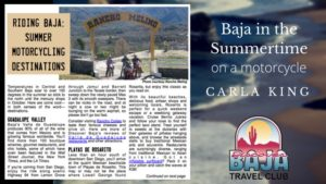 Discover Baja Travel Club 2016 Carla King Motorcycle Destinations