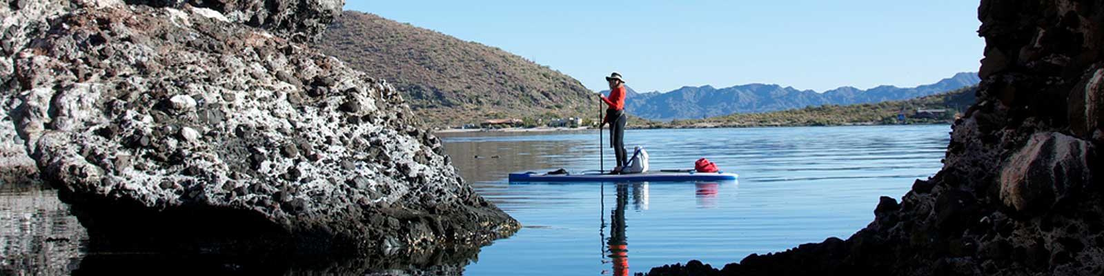 Carla King paddleboard Baja Sea of Cortez Mulege