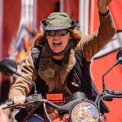 Carla King Ural Motorcycle Overland Expo