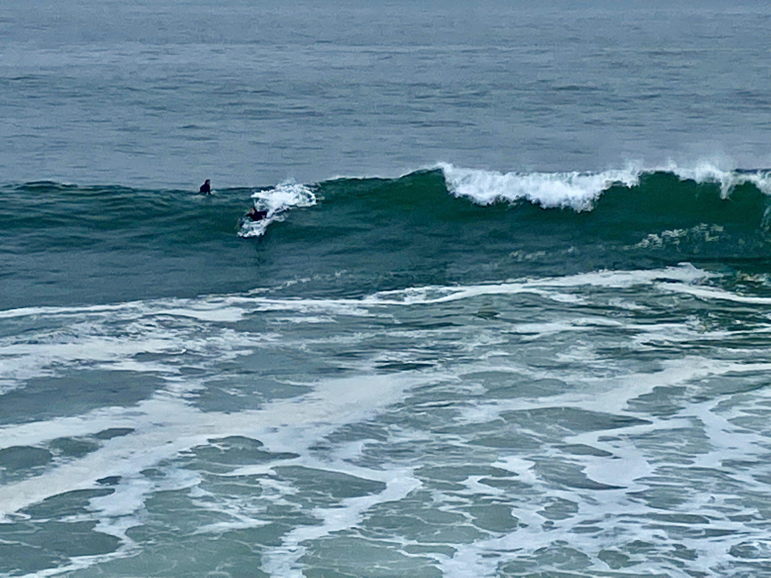 surfing santa cruz west cliff drive
